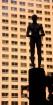 Statue silhouette...