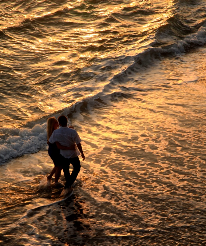 Couple at Sunset, Laguna, CA