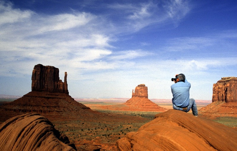 Man photographing Monument Valley