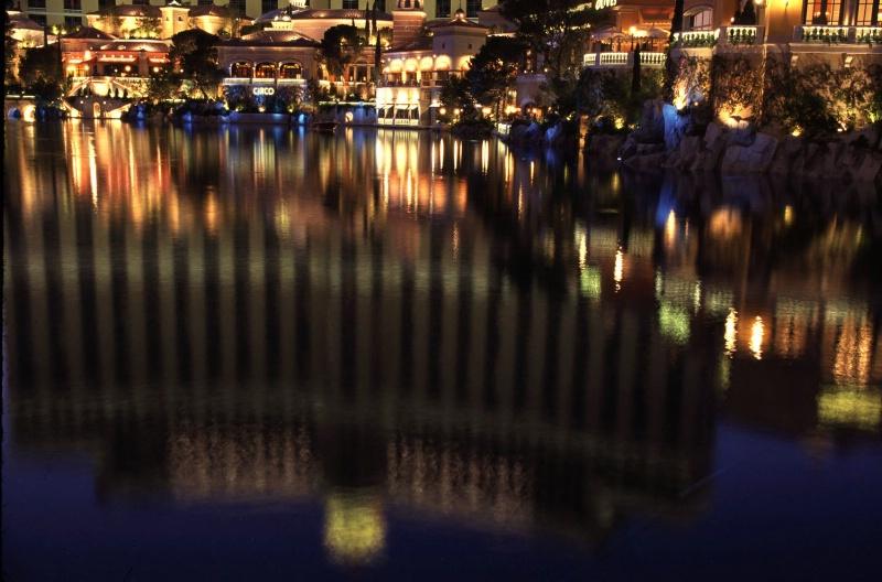 Bellagio Hotel reflection, Las Vegas, NV