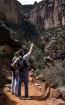 Couple hiking Gra...