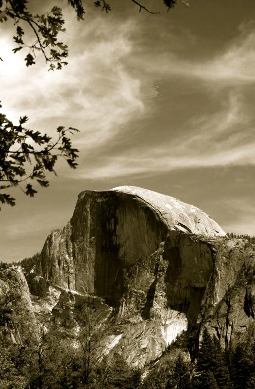 Half Dome in sepia, Yosemite, CA