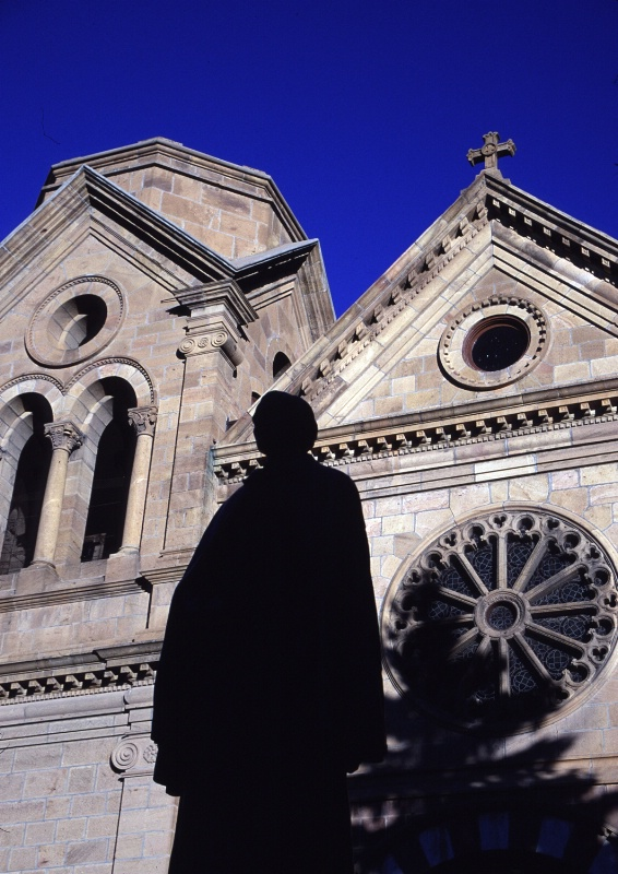 St. Francis de Asis Chapel with silhouette, SF