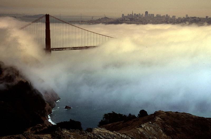 Golden Gate Bridge View Thru Fog, San Francisco