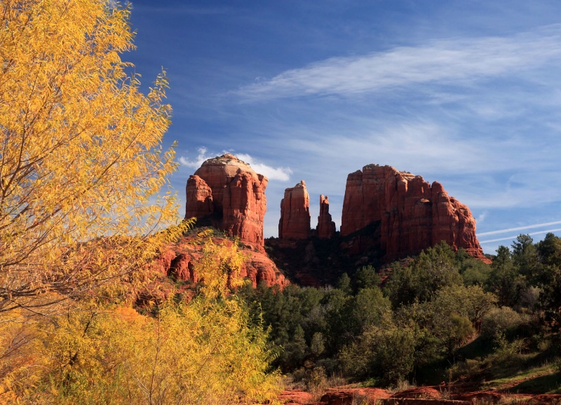 Cathedral Rocks in Fall, Sedona