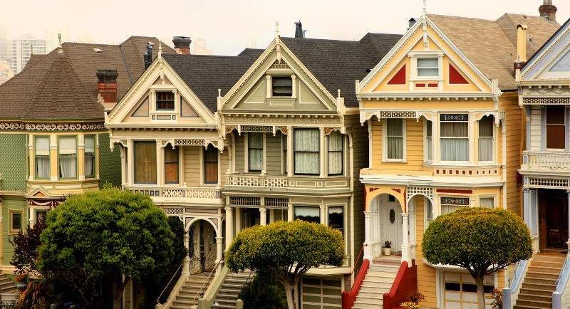 Postcard Row, San Francisco, CA