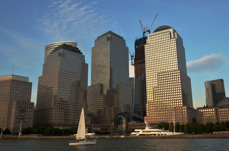 Battery Park and The New World Trade Center