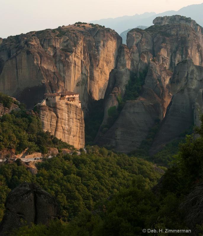 Roussanou Monastery at Day's  End - ID: 13684556 © Deborah H. Zimmerman