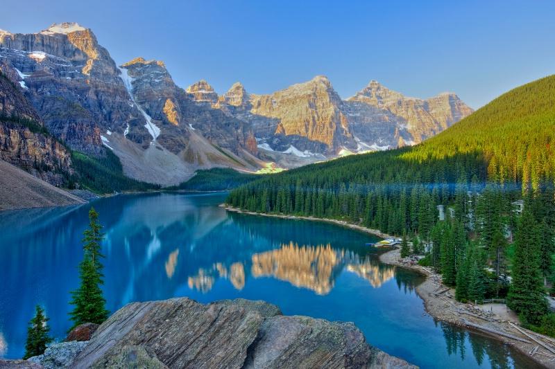 Morain Lake Dawn - ID: 13686253 © Joseph T. Pilonero