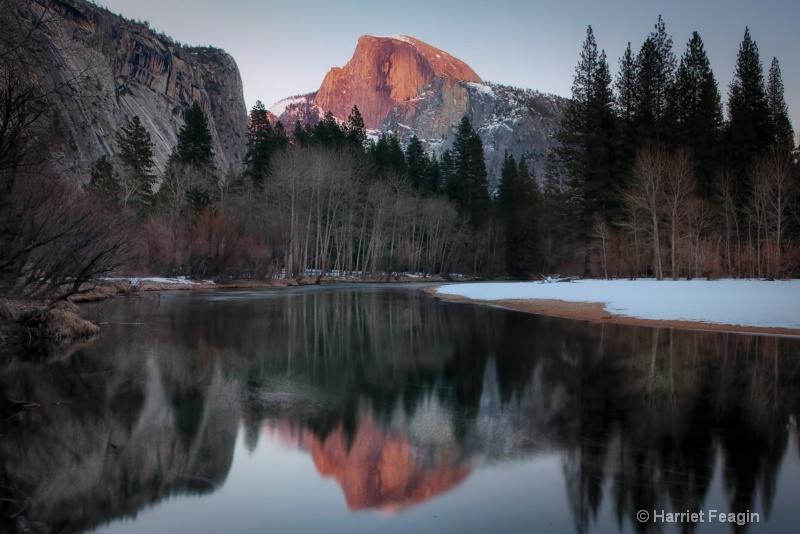 Half Dome Winter Reflection