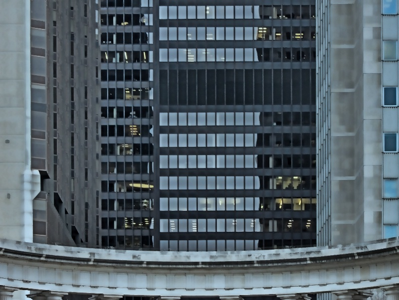 At Work Above the Columns in Chicago