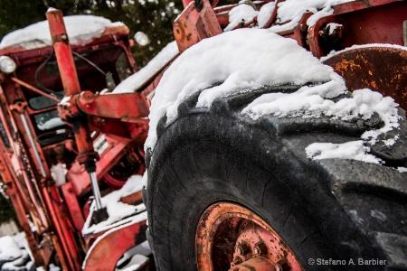 Rusty Tractor Wheel