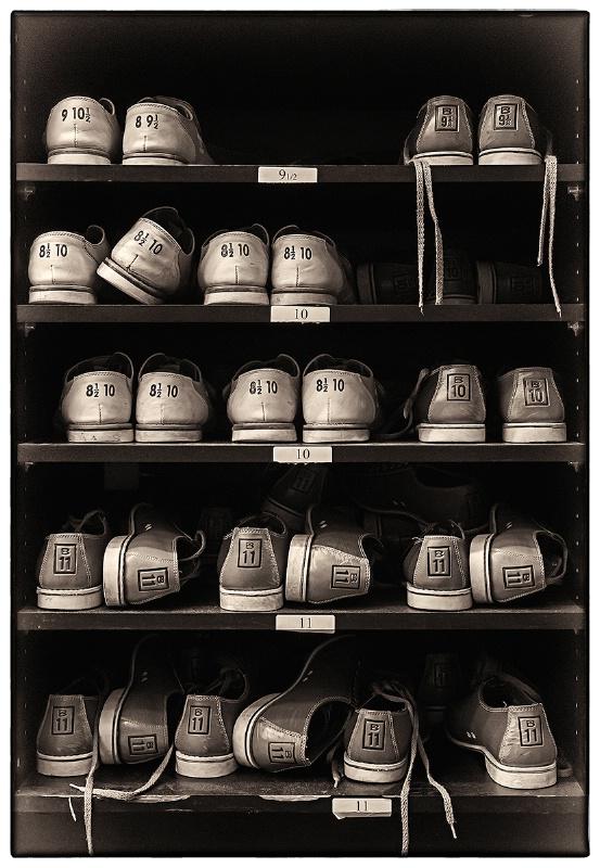Bowling Shoes (B&W version)