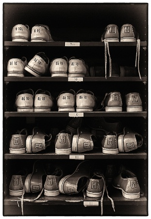 Bowling Shoes (B&W version)