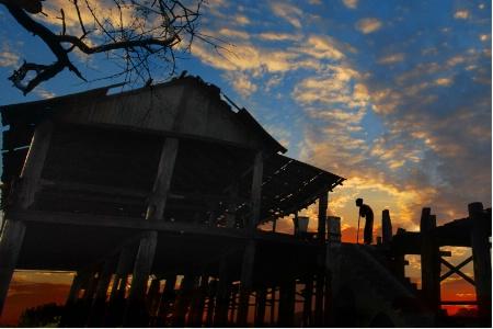 Sun set of life,