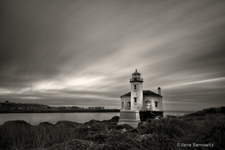 Coquille Lighthouse Clouds in Motion