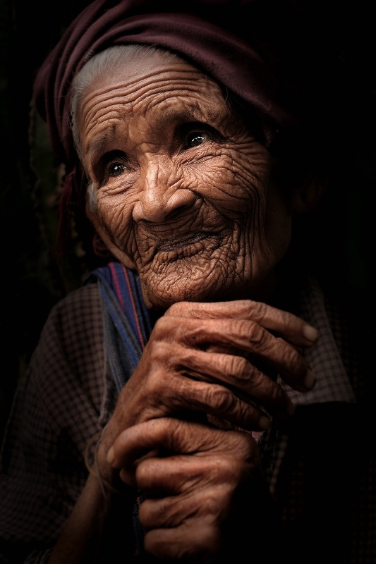 Myanmar old woman