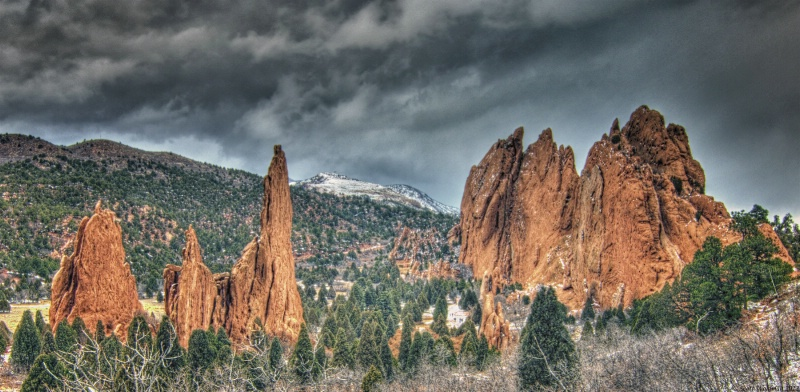 Winter In The Garden Of The Gods