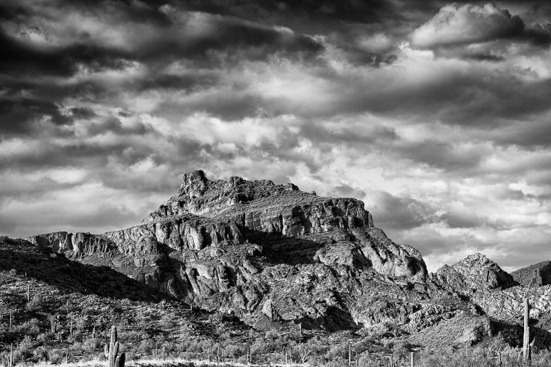 Red Mountain In B&W