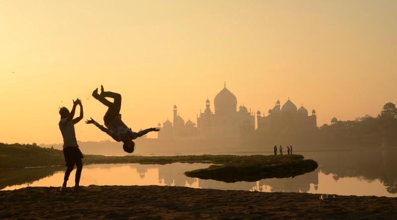 Silhouetted Taj