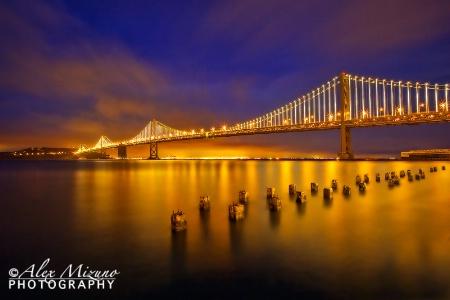 CLOUDY NIGHT AT SF BAY