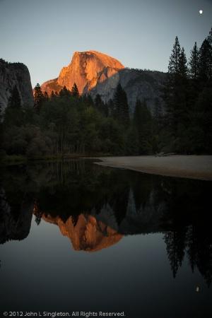 Sunset Reflection  -  Half Dome
