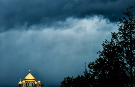 Ukranian Church in a storm