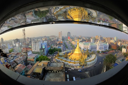 The scene of Yangon