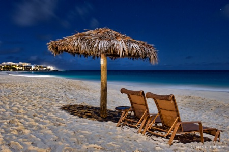 night time on the beach in Anguilla