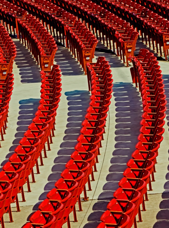 Rows and Rows of Red, Red Chairs