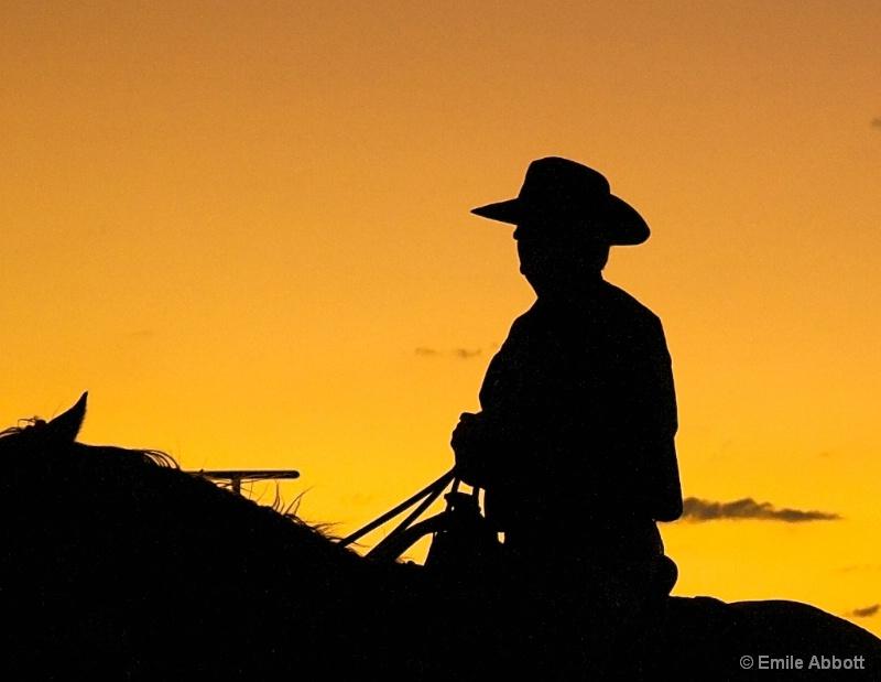 Solitary Rider - ID: 13866875 © Emile Abbott