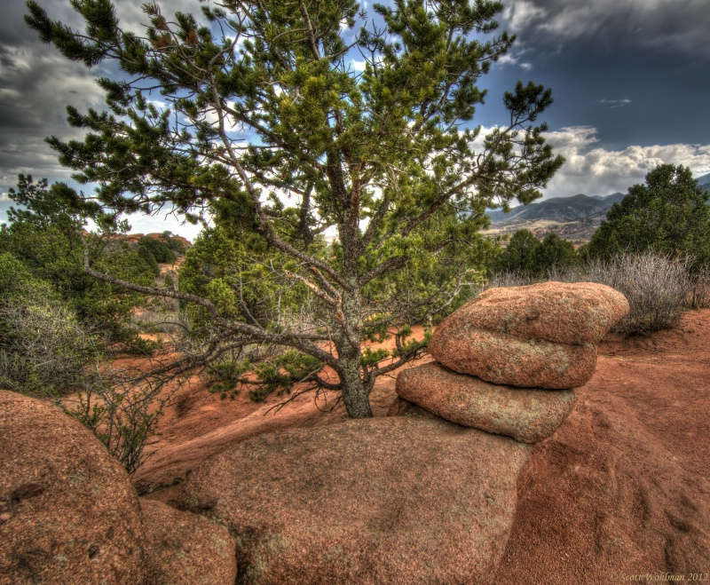 HDR Play In The Garden Of The Gods