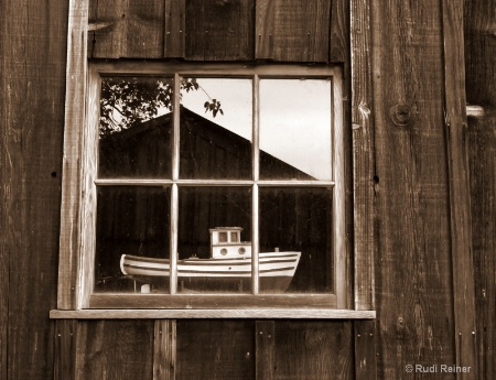 Boat in the window