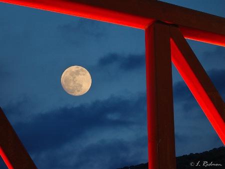 Moonrise at Two  Rivers Bridge