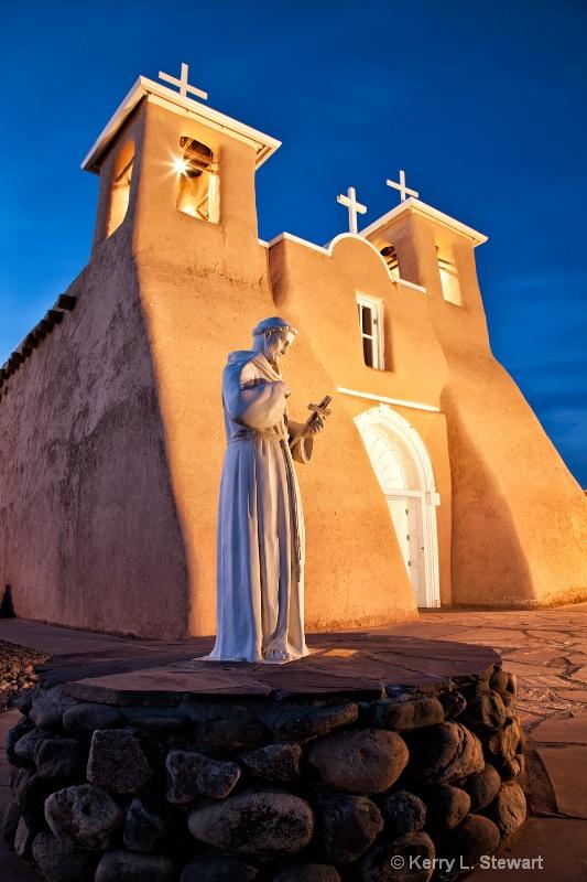 Evening at the Church - ID: 13909312 © Kerry L. Stewart