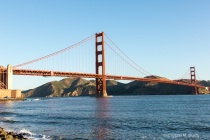 Early morning view of Golden Gate Bridge