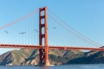 Sectopm of the Golden Gate Bridge