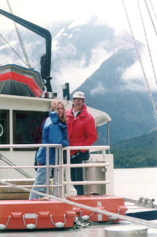 Heather and Bruce on the Wanderer, N.Z.