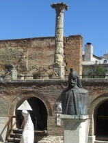 Vlad's castle ruins in central Bucharest