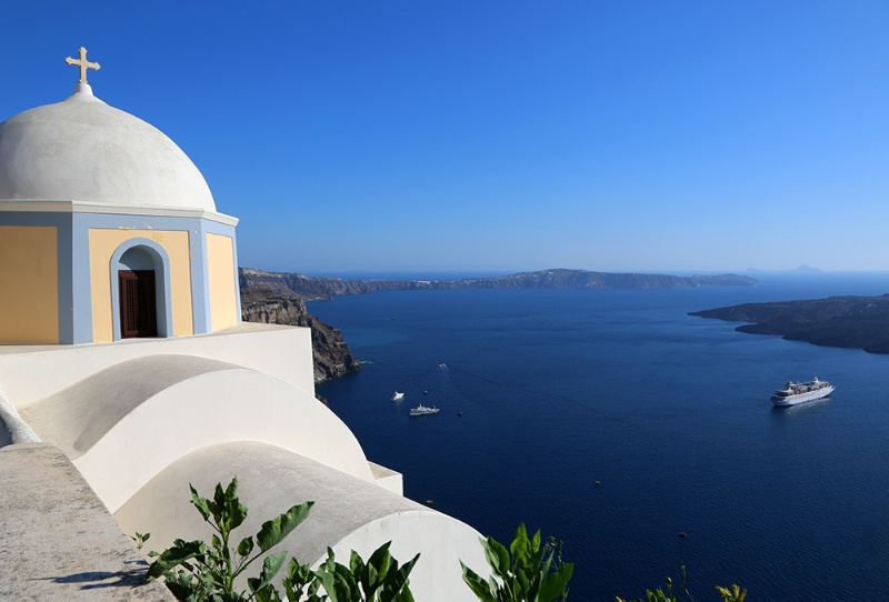 View from Santorini, Greece - ID: 13968587 © Janine Russell