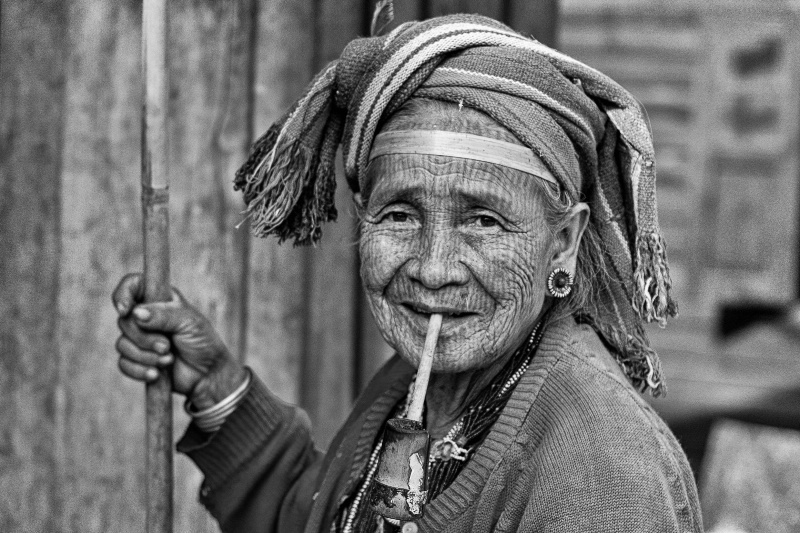 An Old Chin Woman