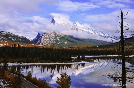 Mount Rundle And Vermilion Lakes