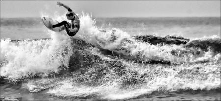 Wave Rider B&W