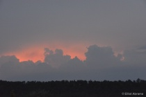 Clouds Highlighted at Sunset