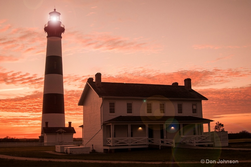 OBX Lighthouse - Flare - ID: 14034563 © Don Johnson