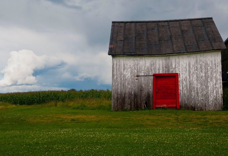 Red and White Shed