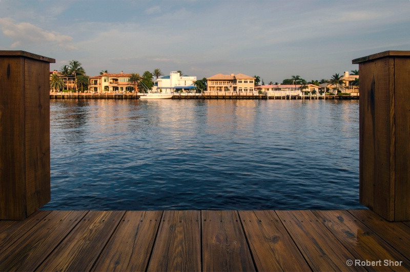 Homes on the intracoastal