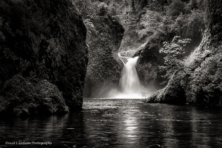 B&W Punchbowl Falls