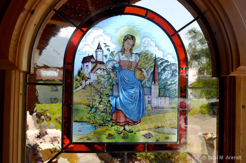 Stained Glass Window (our house in Austria!) - ID: 14094367 © Susanne M. Arendt