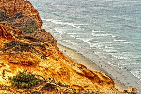 Below the Rugged Coastline